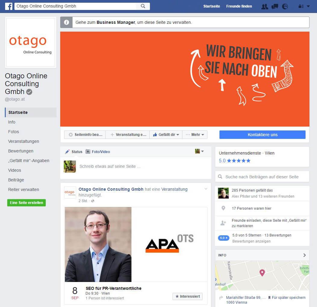 Otago Online Facebook Seite