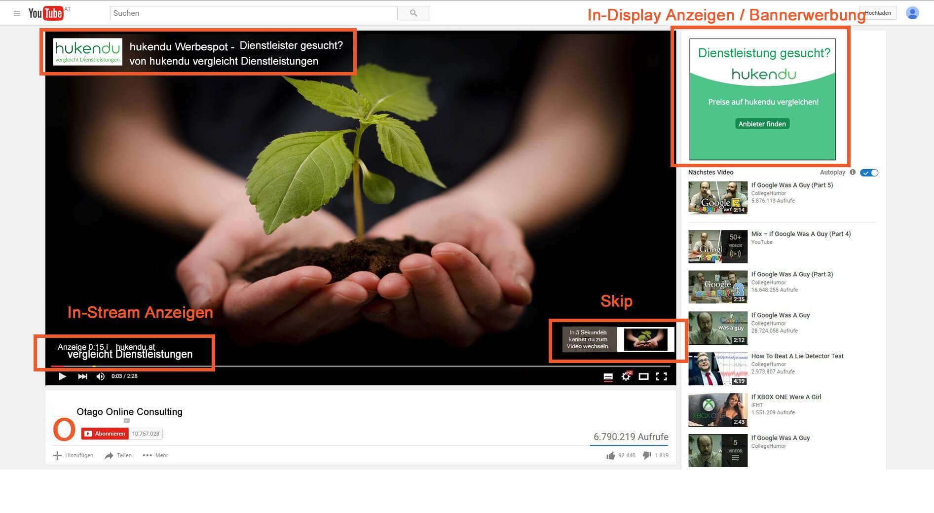 Youtube Werbung 01