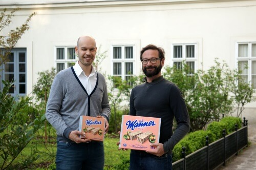 Michael Wieland, Head of Digital Marketing & Consumer Service Manner, und Markus Inzinger